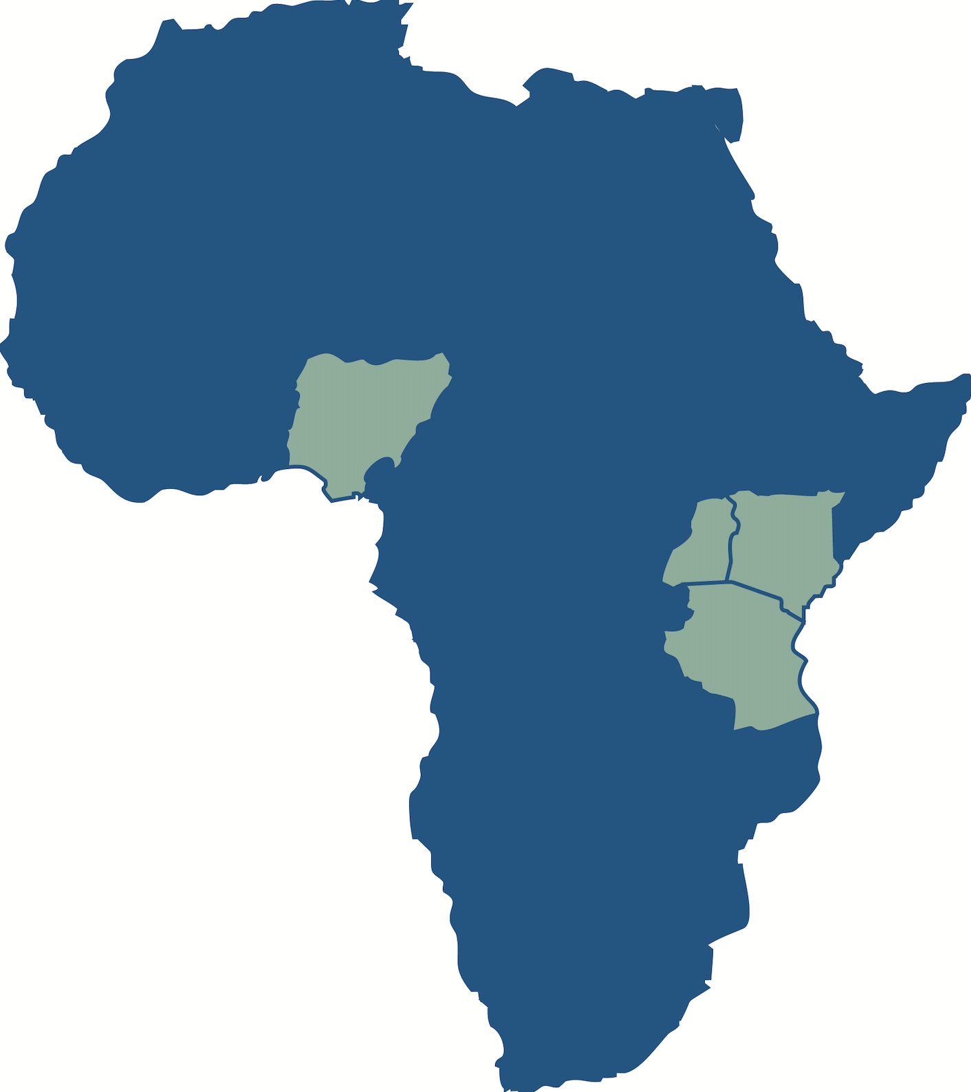 Map of PEPFAR Sites in Africa